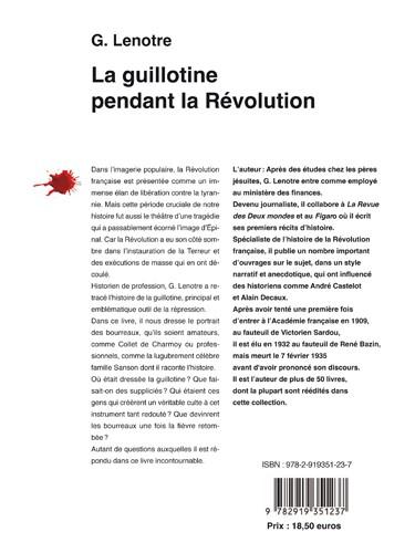 La guillotine pendant la Révolution